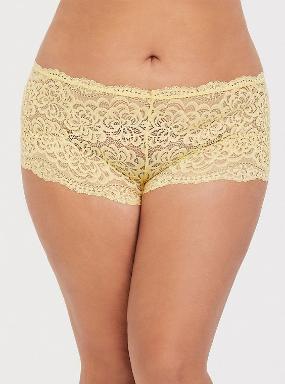 2d2ded50415 Yellow Lace Cheeky Panty in 2019