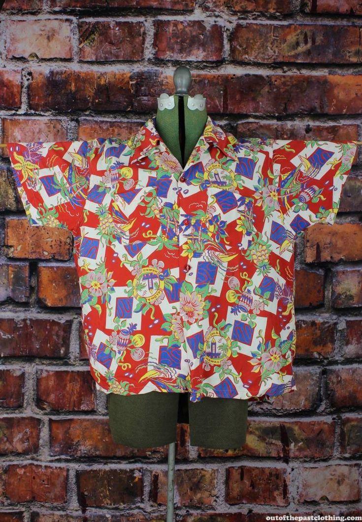 Cye Bernard Miami Vintage 1950s Aloha Hawaiian Shirt