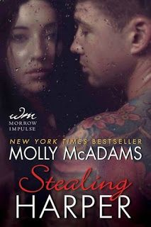 Stealing Harper    Stealing Harper  by Molly McAdams  Book: Taking Chances 1.5  Publisher: William Morrow  Pub Date: July 2013  Genre: New Adult  Format: Print  Source: Bought  Book Links:GoodreadsAmazon Book Depository  Chase Grayson has never been interested in having a relationship that lasts longer than it takes for him and his date to get dressed again. But then he stumbles into a gray-eyed girl whose innocence pours off her and everything changes. From the minute Harper opens her mouth…