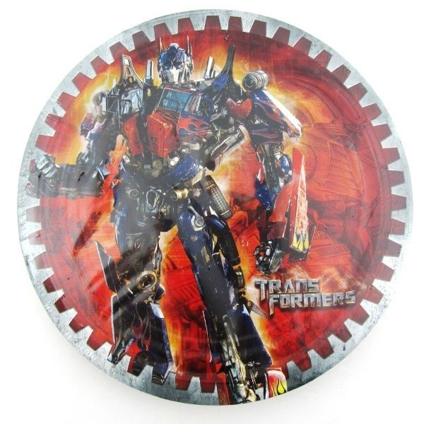 Transformers party Optimus Prime Bumblebee Party Plates