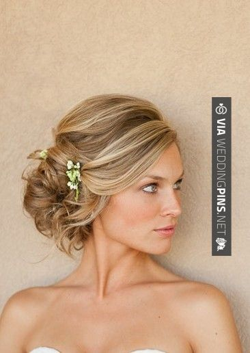 Side Bun Wedding Hair I Love The Softness Of This Much More Than