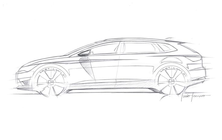 SEAT Leon ST - Design Sketch