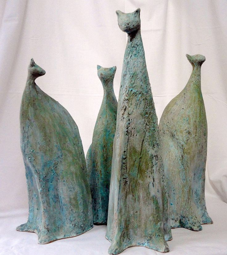 Pottery cats by Serbian artist Dragana Knezevic