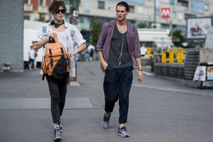 Уличный стиль: Неделя мужской моды в Милане весна/лето 2016. Часть I