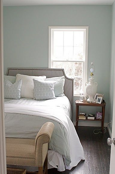 benjamin moore woodlawn blue paint pinterest. Black Bedroom Furniture Sets. Home Design Ideas