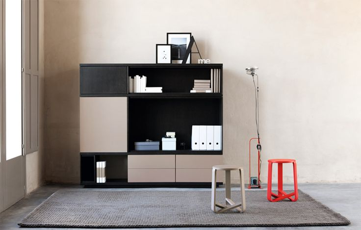 Slats Shelving Unit by Mobilia. See more at www.qualityfurniturecenter.com