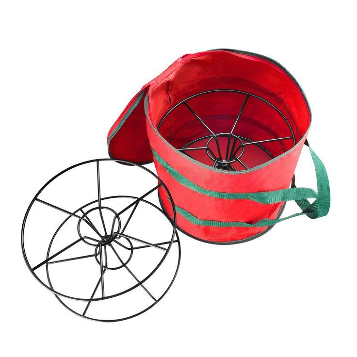 International Elf Store /Metal Premium Christmas Light Storage Bag & Steel Reels Holds 2x100-foot Strands