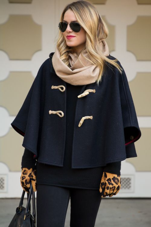 Winter Cape....I'd like something like this or a short poncho.  :)