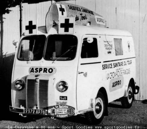 by Agthon part of the medical service of the Tour de France 1954