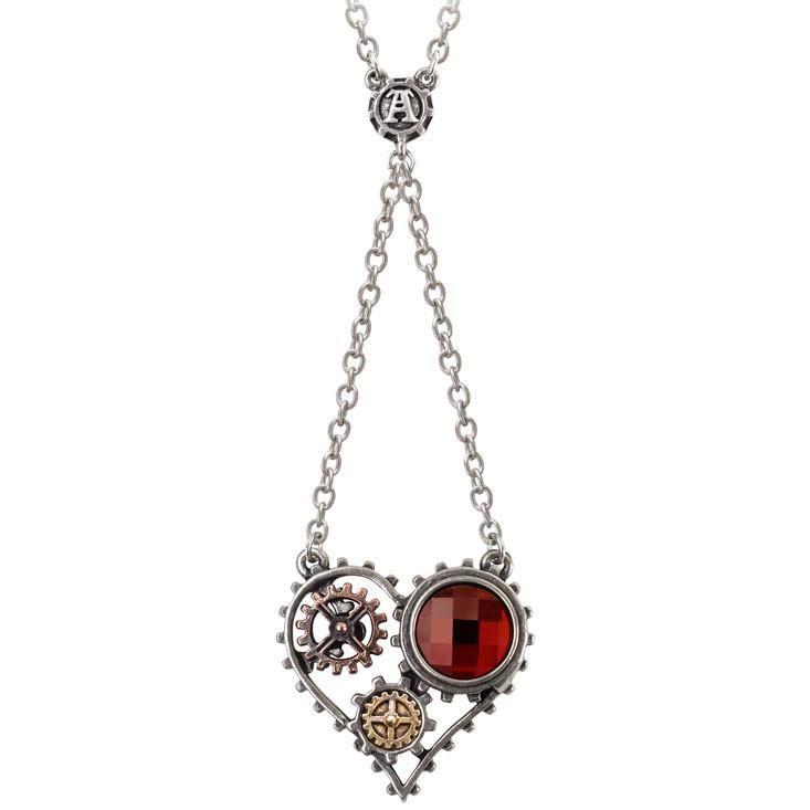 Alchemy Gothic Coeur du Moteur Pendant Necklace Steampunk Heart  #punk #vampiregirl #altgirl #darkgirl #krock #goth #gothrock #rivethead #metalchick #cybergoth
