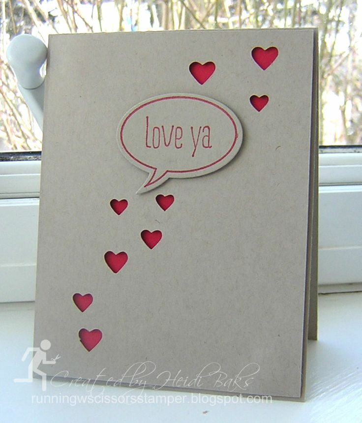 Stamps: Just Sayin'; Paper: Real Red, Crumb Cake; Ink: Real Red; Accessories: Word Bubbles framelits, Big Shot, e-cutter, Dimensionals; MDS Elements:Fulll Heart punch...