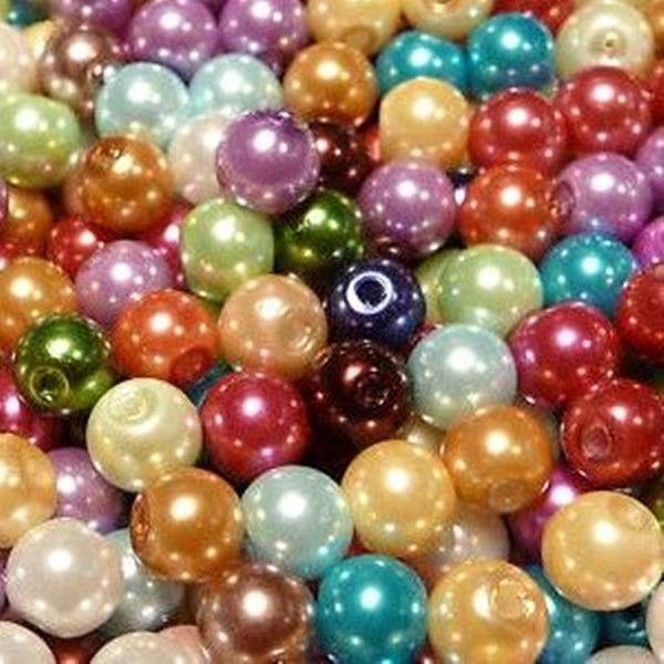 Encontrar Más Espaciadores Información acerca de 300pcs mixta color liso Ronda Cristal Piedras Perla espaciadores de 6 mm, alta calidad guirnalda del grano de la perla, China grano y la cadena collar Proveedores, barato rodillo del grano de Beads and Finding Show en Aliexpress.com