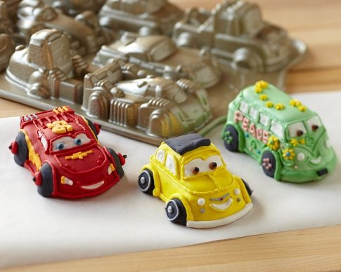 Instead of cup cakes, car cakes!