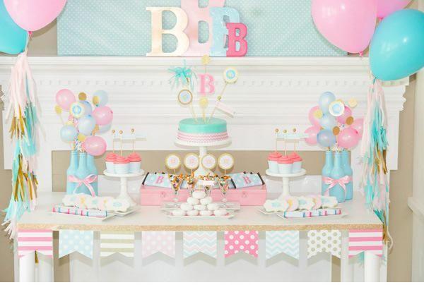 Nazar Organizasyon | Pembe & Mavi Doğum Günü Organizasyonu