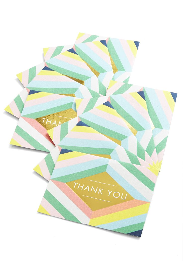 Have a Grateful Day Notecard Set. Make your mood merry by writing to loved ones on these geometric notecards! #multi #modcloth
