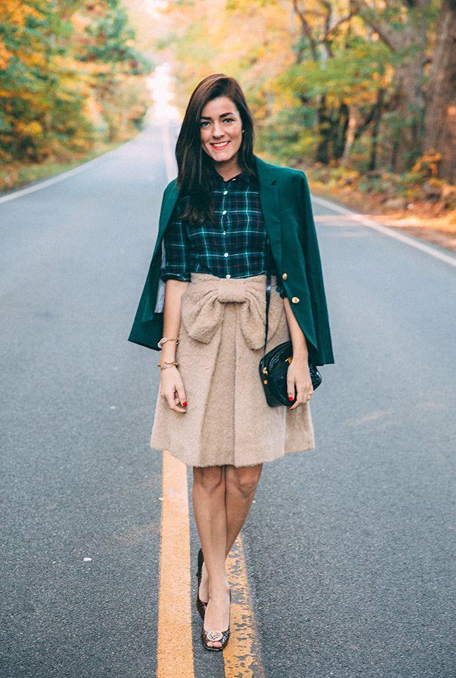 Blazer: J.Crew Factory Shirt: J.Crew (similar) Skirt: Kate Spade Shoes: Diane Kelly ℅ Bag:...