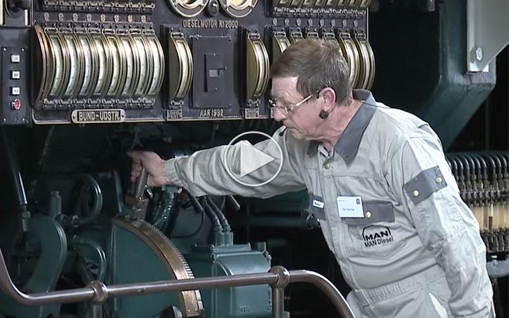 Verdens største dieselmotor er en videnskab at starte