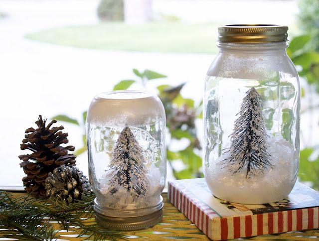 Michaela Noelle Designs: DIY Mason Jar Snow Globe