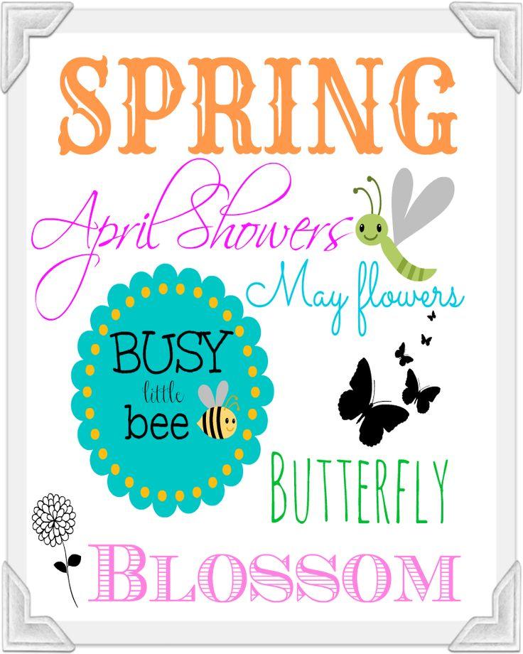 #Spring free printable