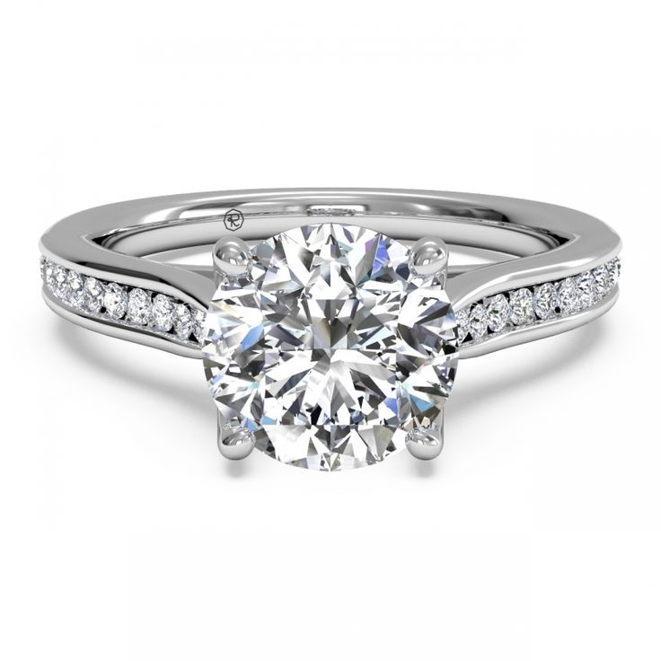 Channel-Set Diamond Engagement Ring with Surprise Diamonds by Ritani from http://www.zimmerbrothers.com/