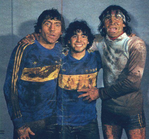 #BocaJuniors - 1981 - Gatti #Maradona Brindisi