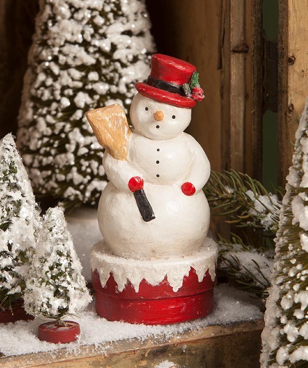 Bethany Lowe Christmas Ornaments.Snowman Bethany Lowe Christmas Retro Christmas