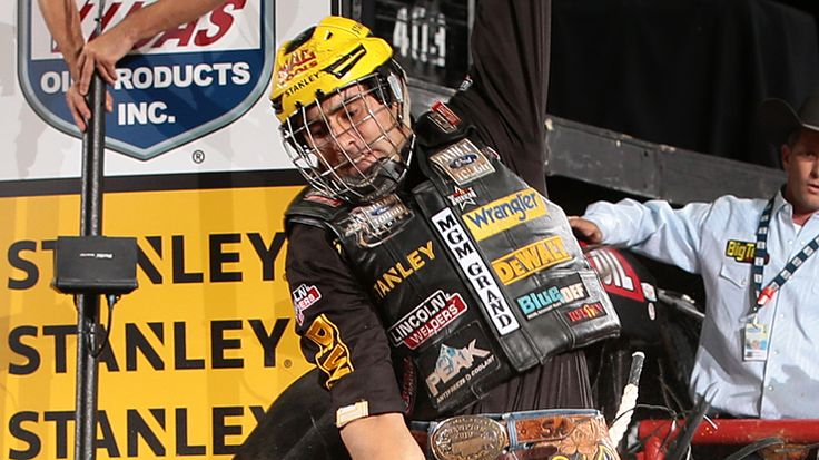 Professional Bull Riders - Silvano Alves rides Asteroid, wins title....Silvano Alves puts up 87.25 points on Asteroid winning the 2014 PBR BFTS World Finals in Las Vegas, NV.