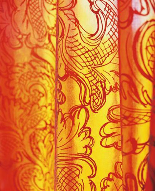 #kleurinspiratie orange curtains