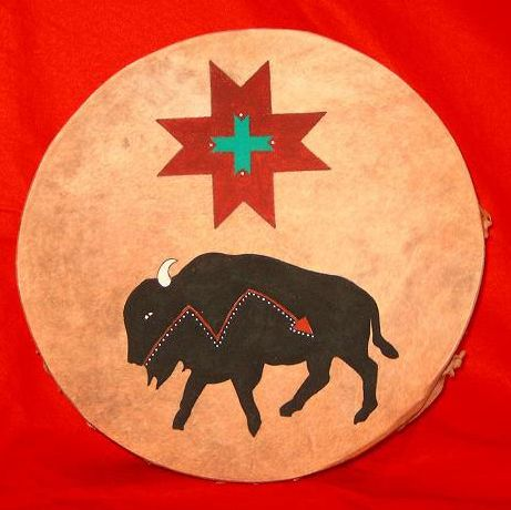 Buffalo Star Ceremonial Drum