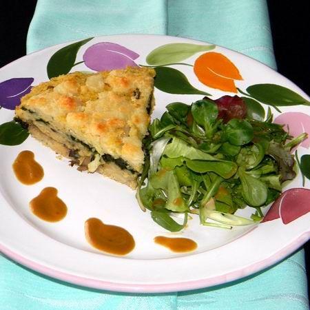 Zöldséges rakott köles kecskesajttal és friss salátával Recept képpel - Mindmegette.hu - Receptek