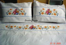 SANDRA PAZETTO PONTO CRUZ: lençol casal