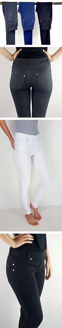 Stretch Jeggings, the ideal Winter pant, comfortable with a look of quality + style. A great pant to combat those chilling Winter winds! These stretch jeans have a canvas feel exterior and offer a nice structured look + make your BUM look great!
