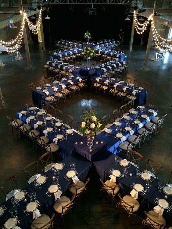 Unique wedding reception seating arrangement Ideas by Liberty Party Rentals.