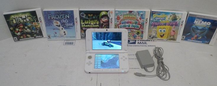 Nintendo 3DS XL Pink with 7 Games Mairo Kart 7 TMNT Finding Nemo Frozen  #Nintendo