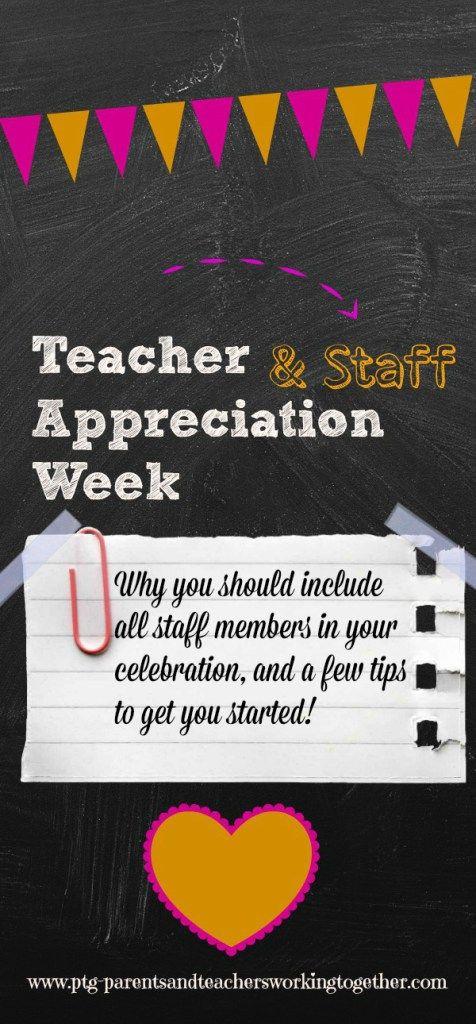 Teacher and staff appreciation week...it's not just for teachers anymore! www.ptg-parentsandteachersworkingtogether.com