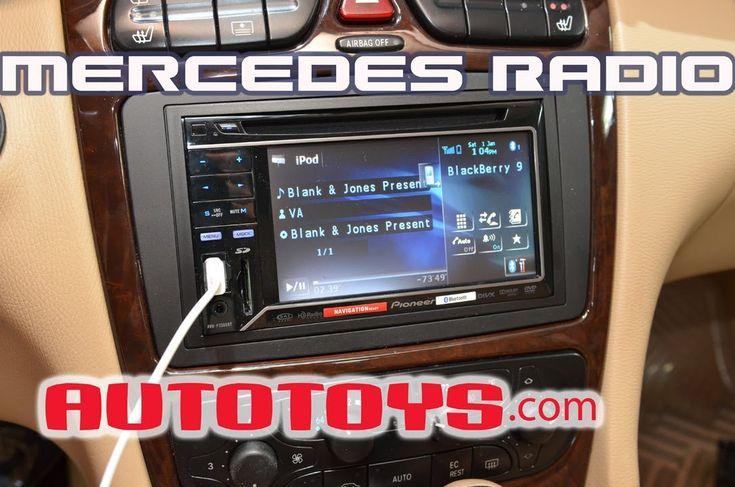 Mercedes C240 C-Class Radio W203 Double Din Radio Removal Pioneer Instal...