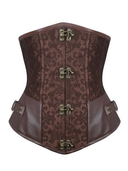 c85f510c5a3 Deryn  Brown Underbust Steampunk corset