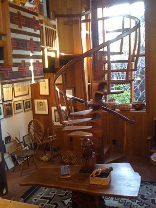 Spiral staircase, Sam and Alfreda Maloof Foundation for Arts and Crafts.