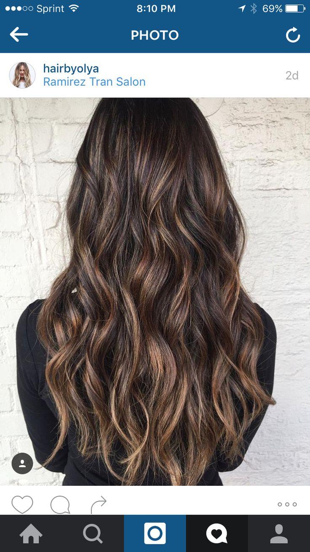 Thin Caramel Highlights Highlight Inspiration Hair