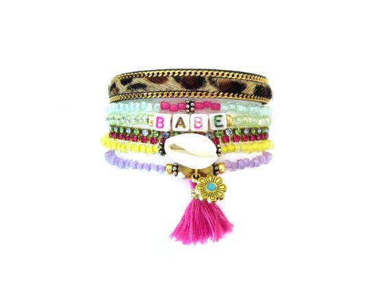 Multi Strand Beaded Bracelet - BABE