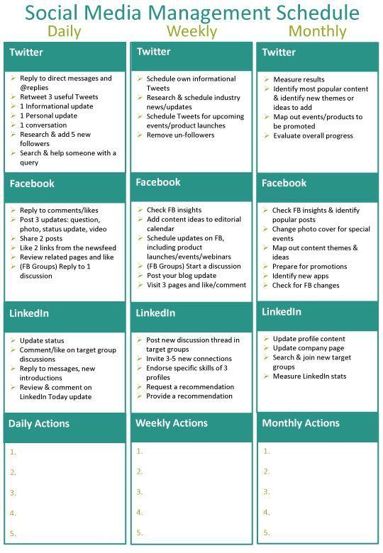 Social+Media+Management+Calendar | ... details below to receieve the social media management schedule PDF