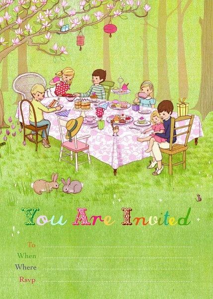 Belle & Boo - uitnodigingen picknick