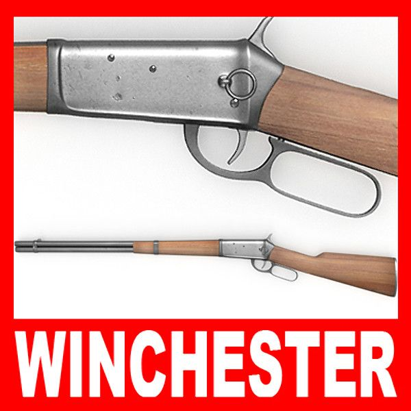 3D Winchester Rifle Model - 3D Model