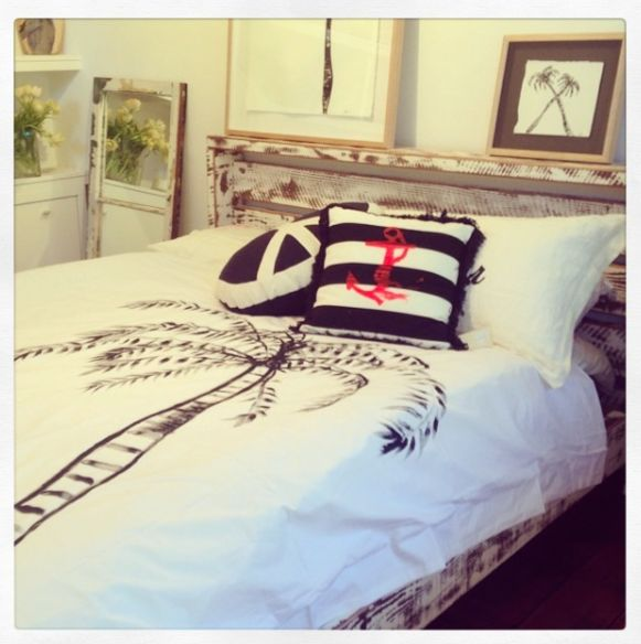 2eight3- Queen Bed used in Libby Watkins Art Pop Up Palm Beach Gallery. www.2eight3.com.au