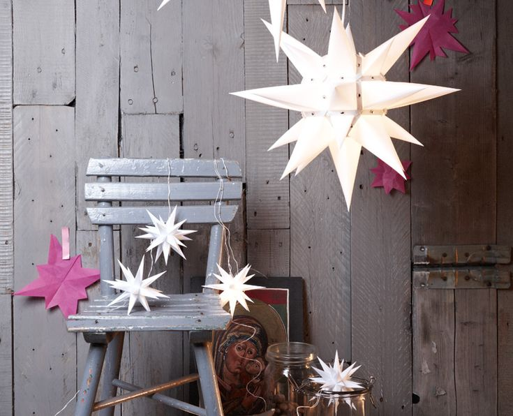 Xmas stars.cool things that aren't too hard to make ...family projects as cut-price, meangingful gifts