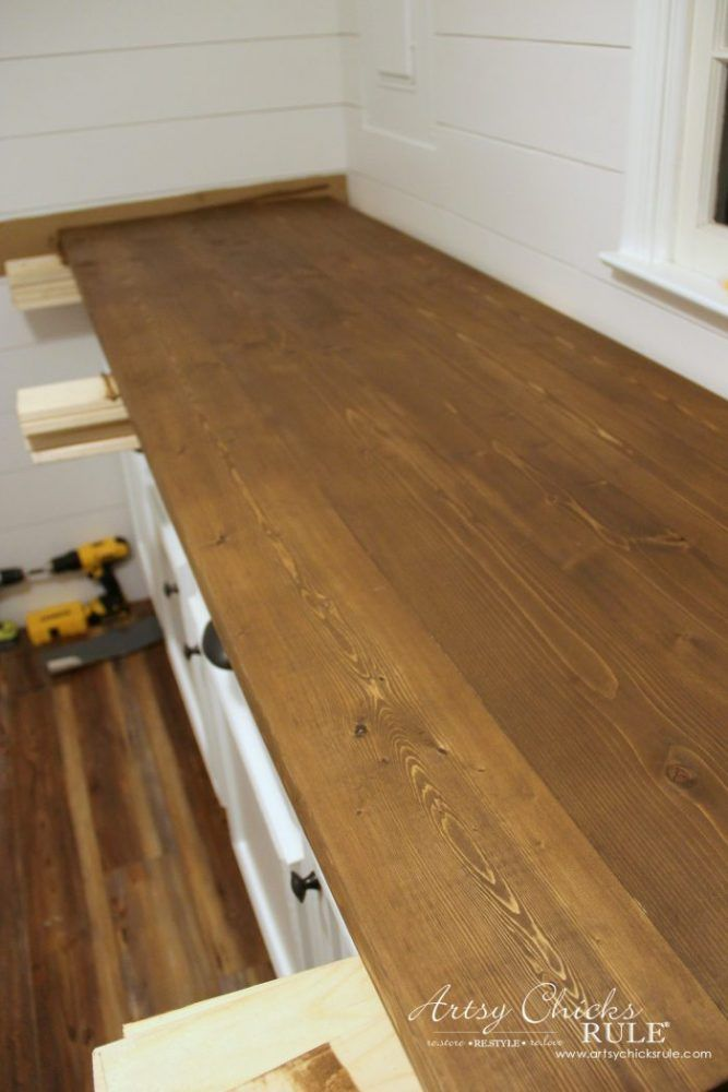 How To Make A Diy Wood Countertop Easier Than You Thought Diy