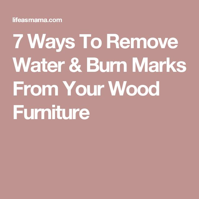 Best 25 Remove Water Rings Ideas On Pinterest