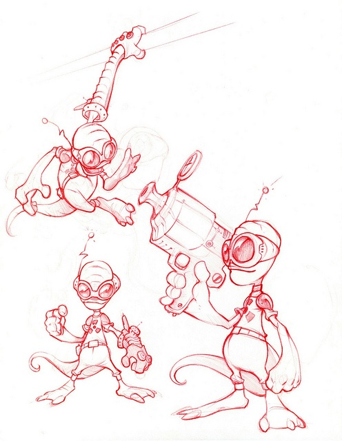 Ratchet & Clank Concept Art: Ratchet 1 by PlayStation.Blog, via Flickr