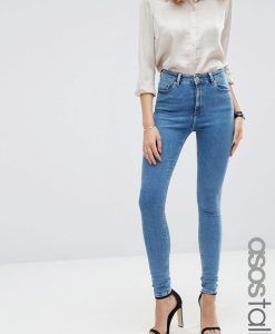 ASOS TALL Ridley Skinny Jean in Jojo Wash - Blue. Tall Clothing for tall men and tall women at PrettyLong.com