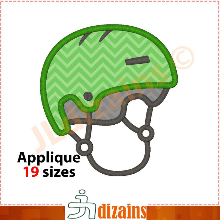 Sports helmet applique design. Machine embroidery design -INSTANT DOWNLOAD- 19 sizes. Skater helmet. BMX helmet applique. Extreme helmet by JLdizains on Etsy